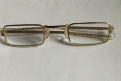 Vergulde leesbril