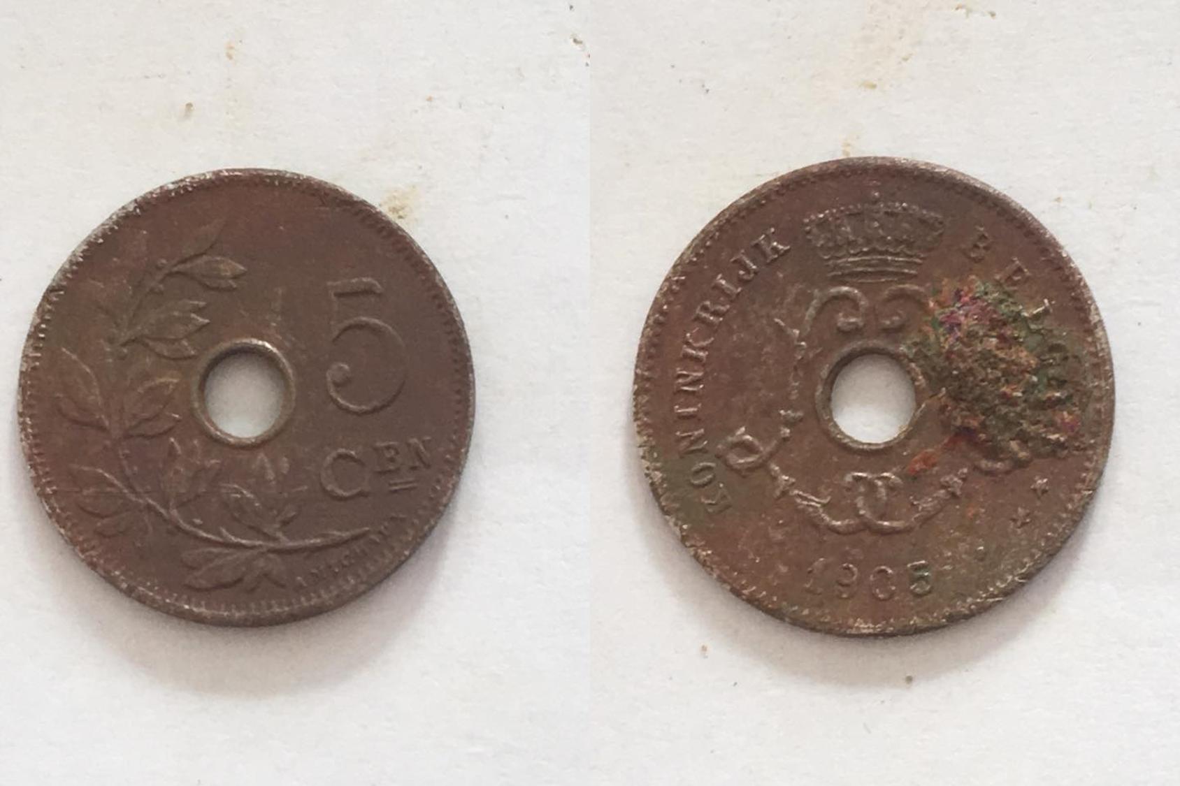 5 belgische cent (kluit)