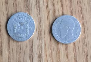 Zilveren Leopold II munt