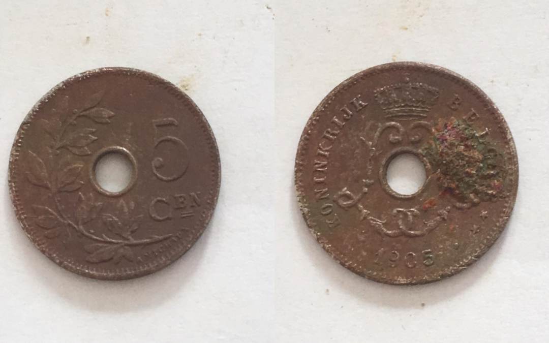 115 jaar oude Belgische munt gevonden