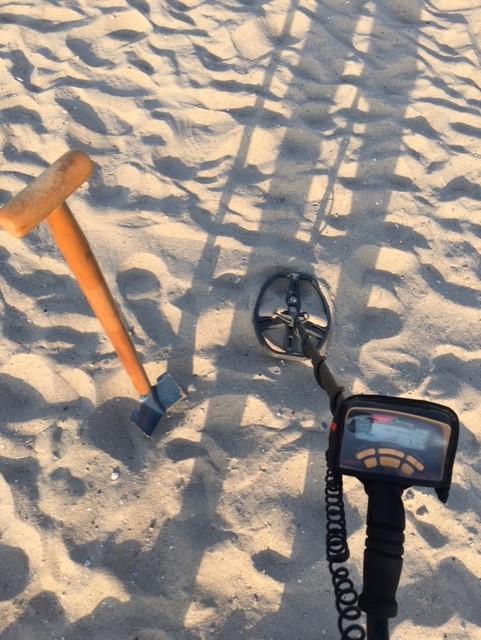 Het gereedschap van de moderne strandjutter